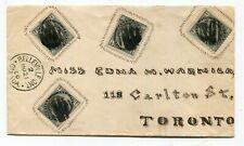 Canada ONT Ontario - Belleville 1900 Hand Illustrated Address / Framed Stamps -