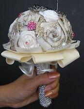 Beautiful Hand Craft Wedding Bouquet Rossets, Pearl, Swarovski Crystal, Glitters