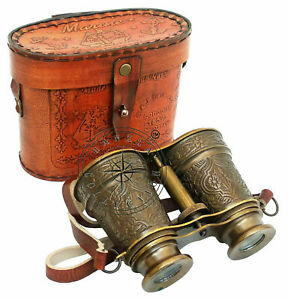 Antique Brass Binocular Maritime Vintage Gift Nautical Monocular Telescope
