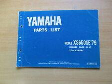 Parts list catalog / Teile Liste Katalog Yamaha XS 650 SE (3LE) 1979