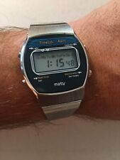 VINTAGE MELODY LCD WATCH MATY WITH MELODY SELECT BUTTON VERY RARE NEW !!