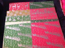 10 X A4 foiled Christmas themed card stock - 260gsm