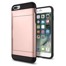 Rose Gold Wallet Shockproof Slide Credit Card Holder Case Cover For iPhone 8