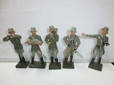 Konvolut 5 alte Lineol Massesoldaten zu 7.5cm Offiziere und Generäle