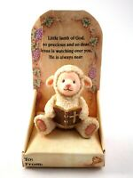 Russ Berrie Prayerful Thoughts Ceramic Lamb with Bible Figurine