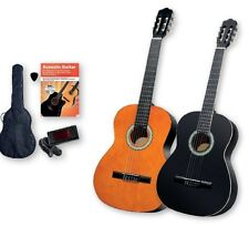 CLASSIC ACOUSTIC GUITAR WITH 6 PIECE SET,incl Clip Tuner.