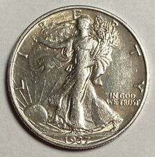 1937-S WALKING LIBERTY HALF DOLLAR, ABOUT UNCIRCULATED — NO RESERVE!!