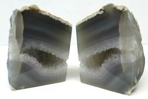Natural Agate Book-ends  Ideal for CD's