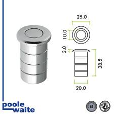 Dust excluding socket for flush bolts, concrete application