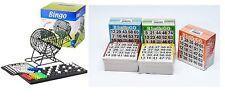 Bingo XXL Set Metall Bingotrommel Bingo-Mühle Lotto-Trommel & 500 Bingokarten