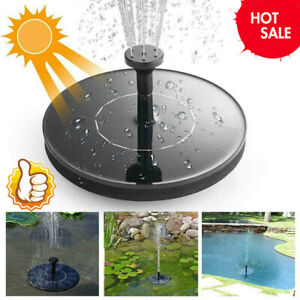 Solar Power Fountain Bird Bath Water Pump Spray Kit Outdoor Pond Patio HOT