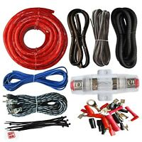 4 Gauge Amp Power Wire Kit Car Audio Amp Amplifier Install RCA Subwoofer  Wiring