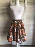 Vntg 60s 70s Handmade Patchwork Swing Skirt Full Prairie Festival Boho Country