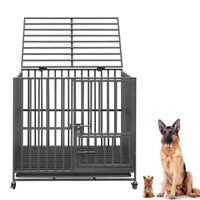 38inch Heavy Duty Metal Pet Cage Carrier Dog Puppy Folding Training Crate Travel
