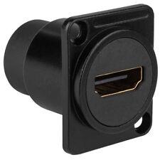 Audtek HDMICBK Black Chassis Mount HDMI 1.4 Feed Thru Jack D Style
