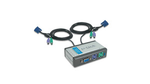 D-link DKVM-2K (DKVM-2KU) 2-port KVM Switch - Used
