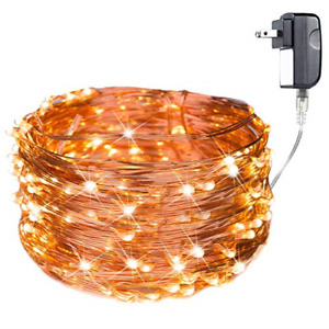 200 LED Fairy Lights Plug in 70FT Starry String Lights Waterproof Copper Wire -