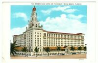 Used Postcard The Roney Plaza Hotel on the Ocean Miami Beach Florida FL