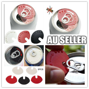 5pc Beverage Can Lid Cap Soda Soft Drink Snaps Tops Cover Lock Sealer Protector