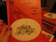 International Harvester 468 Cultivator Operator's Manual