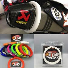Motorrad Auspuffschutz,Schalldämpferschutz,Auspuff Schutzring,Yamaha,Suzuki,Weiß