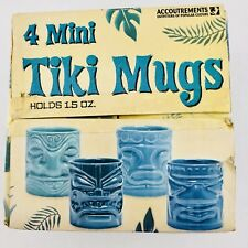 Four New Boxed Mini Tiki Mugs 1.5 oz Shot Glasses Vic, Bob, Otto, Don 2003