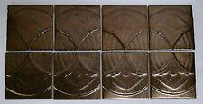 Gold-Tone Vintage Art Deco Tiles-Set of 8