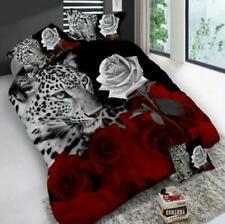 Leopard Rose 3D Printed 3 Pieces Duvet Cover pillow case Complete Bedding Sets