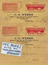 1922 letterhead 2 J O WEBER San Antonio Texas IDEAL BAKING OVEN