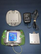 LeapFrog Leapster Learning Game System Green Base Tested Works w/ Batteries Only