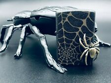 Zippo 3D Golden Spider Web Lighter w/ 3D Spider Display - Limited Edition (RARE)