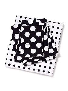 Victorias Secret Pink Polk a Dot Sheet Set Twin XL Black & White NWT