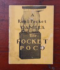 ROCHESTER CAMERA CO POCKET POCO SALES BROCHURE, 20 PAGES/cks/192250