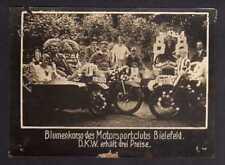 117843 Foto DKW Motoren Motorsportclub Bielefeld Blumenkorso 1928 Rasmussen