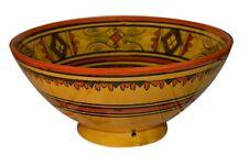 Moroccan Ceramic Plate Bowl Pottery Spanish Salad Pasta Soup Fruit  Rice Dish