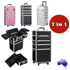 7 In 1 Professional Beauty Organizer Case Cosmetics Makeup Case Trolley Box AU
