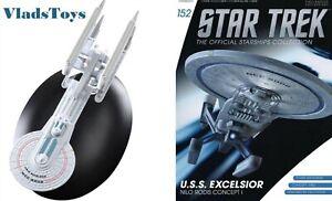 USS Excelsior Prototype Mk I Eaglemoss Star Trek Next Gen Issue 152 w/magazine
