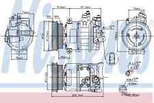 New! Nissens A/C Compressor 89421 1K0820808G