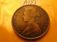 Canada Pre Confederation Nova Scotia 1861 One Cent Beautiful Coin ID#a139.