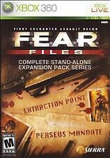 F.E.A.R. Files (Microsoft Xbox 360, 2007)   DISC ONLY !         FAST SHIPPING !!