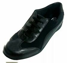 DR SCHOLLS BRAND NEW Womens Walking Shoe Size 5W Black Lace Up Casual Wide