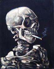 Vincent van Gogh Reproduction Skull Skeleton Original Oil Painting Velvet HJ0084