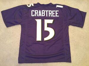 UNSIGNED CUSTOM Sewn Stitched Michael Crabtree Purple Jersey - M, L, XL, 2XL