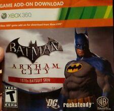 Xbox 360 Batman Arkham City 1970s Batsuit Skin DLC