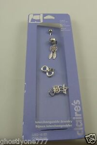dream catcher owl belly button navel ring piercing naval interchangeable crystal