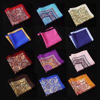 NE Handkerchief 100% Natural Silk Satin Mens Hanky Wedding Party Pocket Square