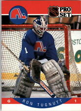1990-91 PRO SET HOCKEY RON TUGNUTT CARD #258 QUEBEC NORDIQUES NMT/MT-MINT