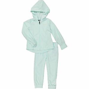 NIKE Girl's Green 2Pc Velour Tracksuit Set(Hoodie Jacket+Jogger): 2,3,4,5,6,7Yrs