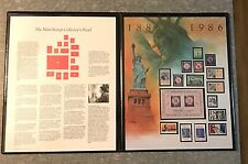 Fleetwood 1986 Mint Stamps Statue Of Liberty Collectors Panel By Dennis Lyall