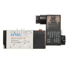 4V210-08 5 Way 2 Position 1/4'' Airtac Solenoid Valve AC110V IP65